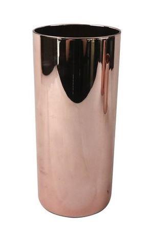 Vaso De Vidro Rose 8,8cm X 8,8cm X 20cm Mero - Ku0024