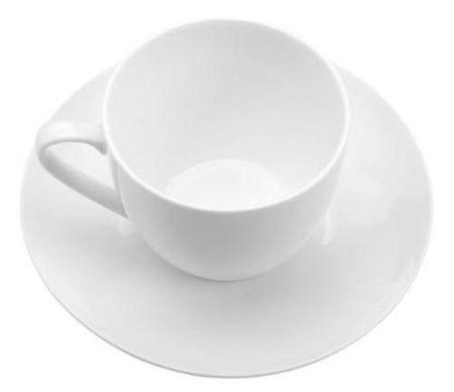 Xícara de Chá Com Pires de Porcelana Lyor 8498