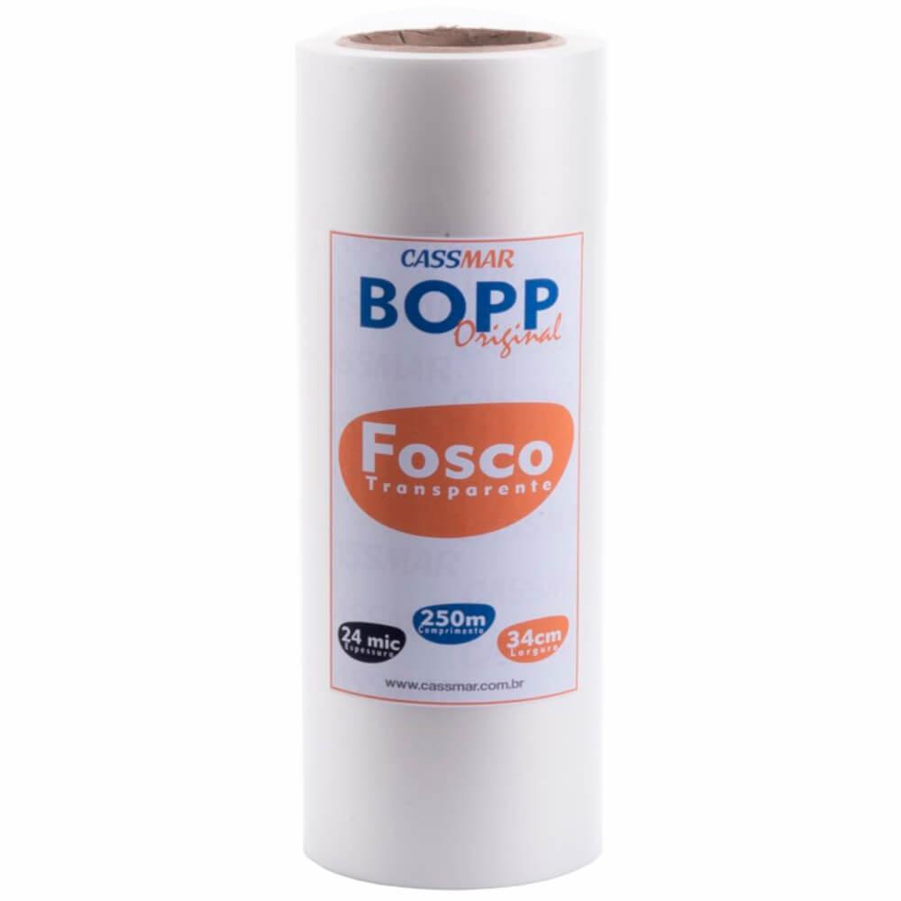 Bobina Bopp Fosco Para Laminação A3 34cmx250m Cassmar 01un