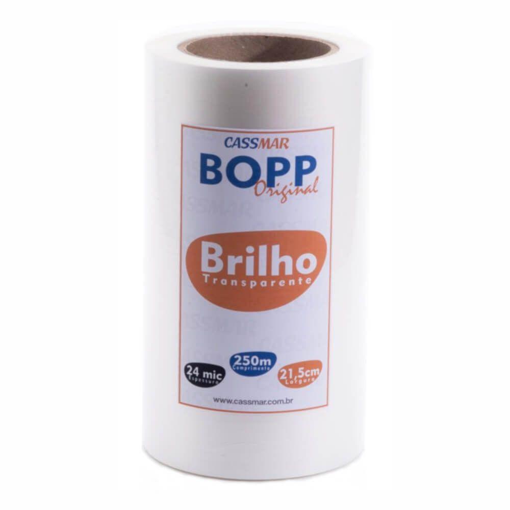 Bopp Bobina Brilho Para Laminação A4 21,5cmx250m Cassmar 01un