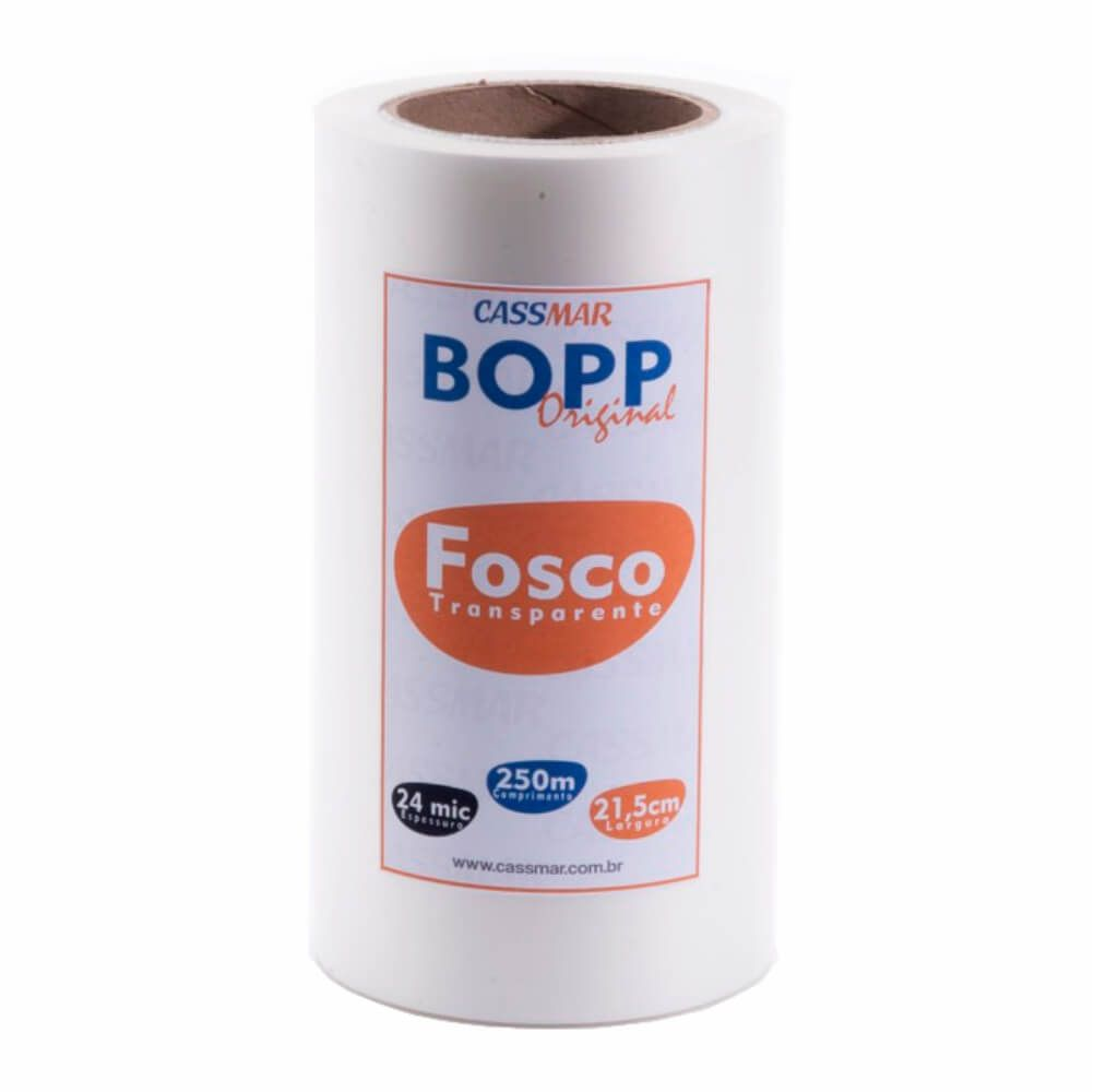 Bopp Bobina Fosco Para Laminação A4 21,5cmx250m Cassmar 01un