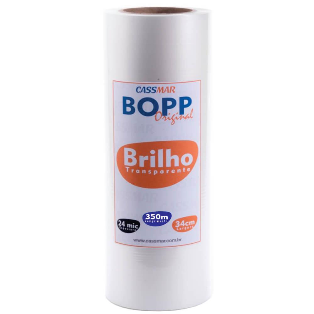 Bopp Brilho para Laminação A3 Bobina 34cmx350m Cassmar 01 un