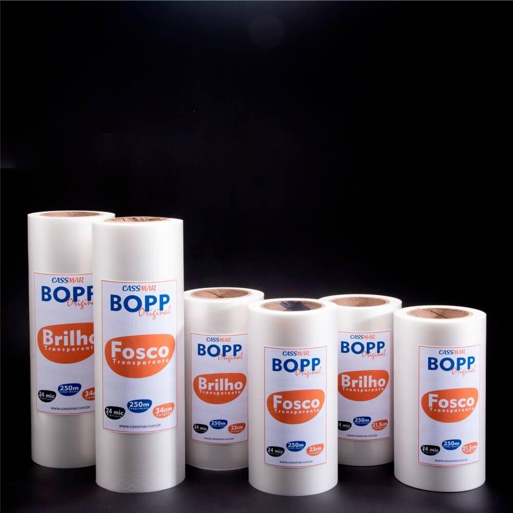 Bopp Brilho Para Laminação A4 Ofício 23cmx250m Cassmar 01un