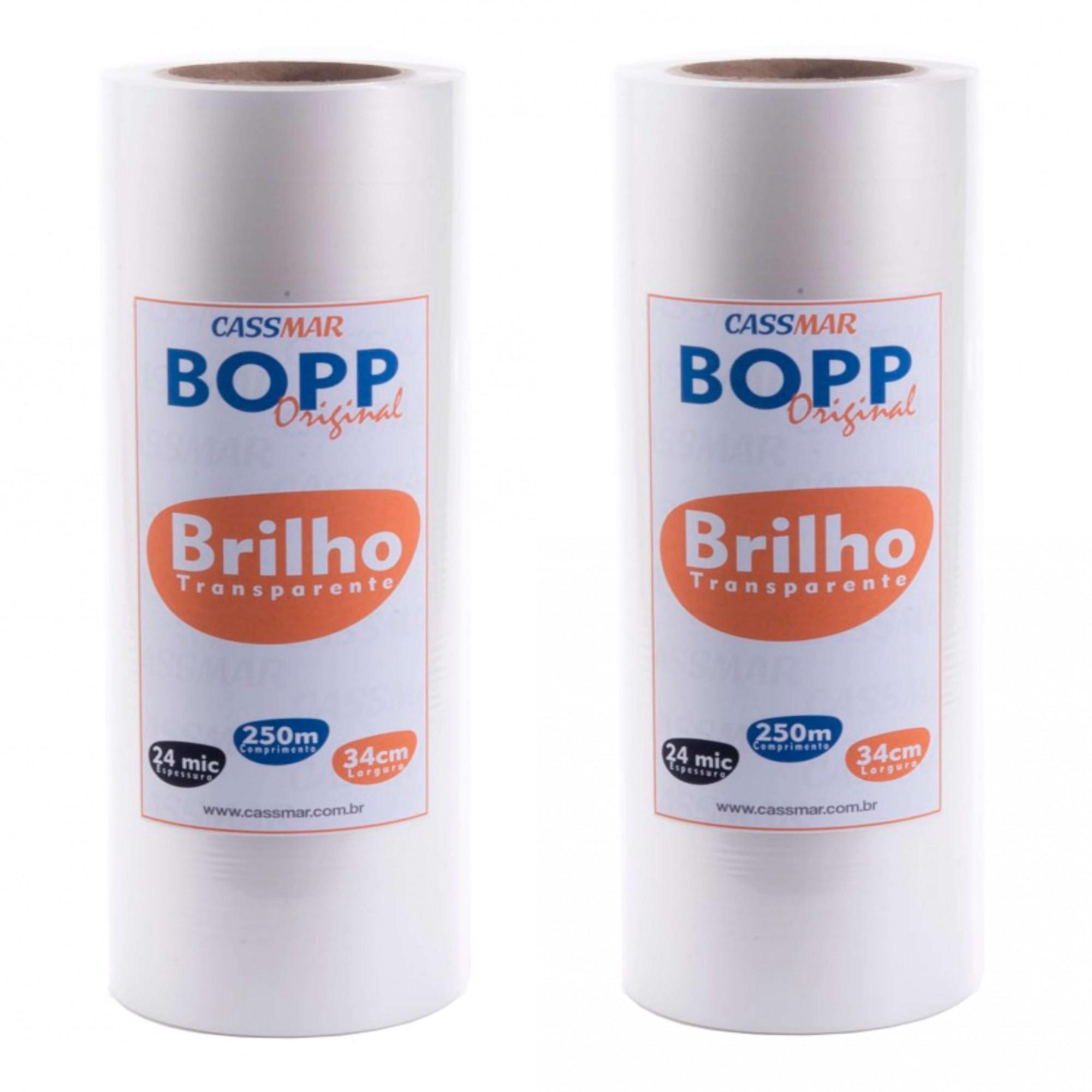 Bopp Brilho para Laminação Bobina A3 34cmx250m Cassmar 02 un