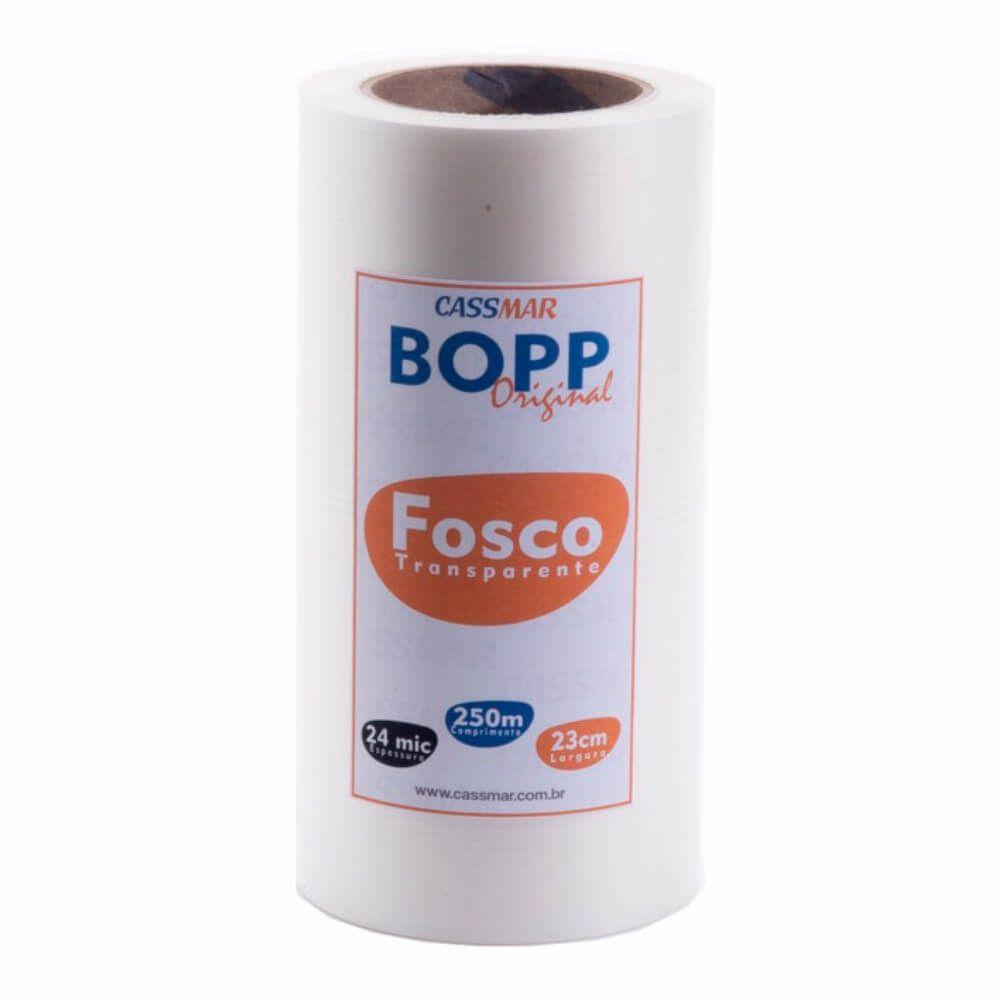 Bopp Fosco Bobina Para Laminação A4 Oficio 23cmx250m Cassmar 01un