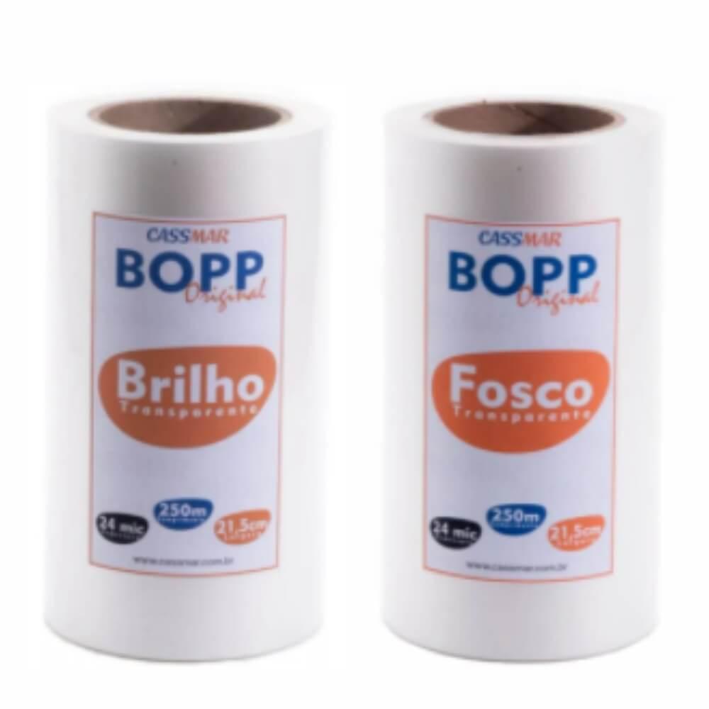 Bopp Fosco e Brilhante para Laminação Bobina A4 21,5cmx250m Cassmar 02 un