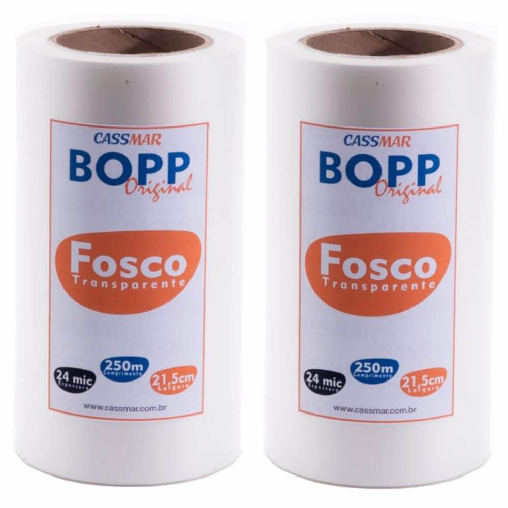 Bopp Fosco para Laminação Bobina A4 21,5cmx250m Cassmar 02 un