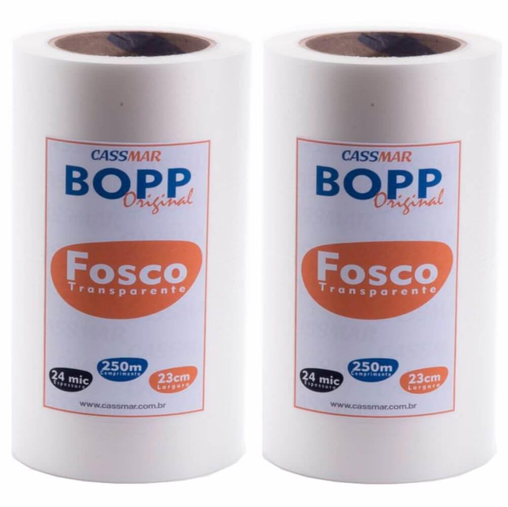 Bopp Fosco para Laminação Bobina A4 23cmx250m Cassmar 02 un