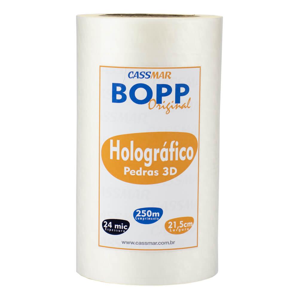 Bopp Holográfico Pedras 3D para Laminação Bobina 21,5x250m Cassmar 1un