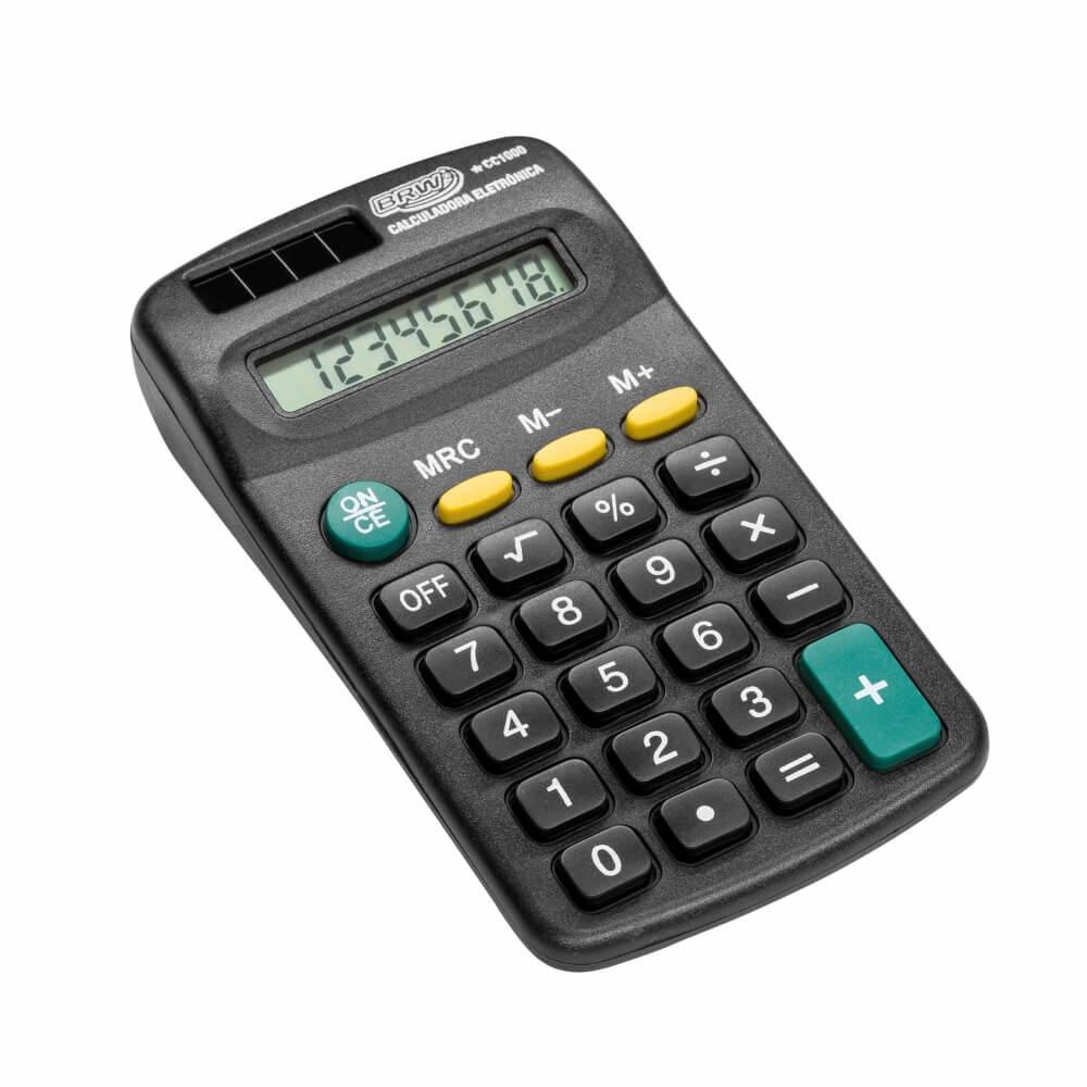 Calculadora de Bolso pequena 08 Dígitos BRW 01un