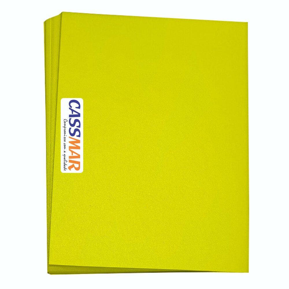 Capa Para Encadernação A4 Amarelo Couro Fundo Pp 0,30 100u