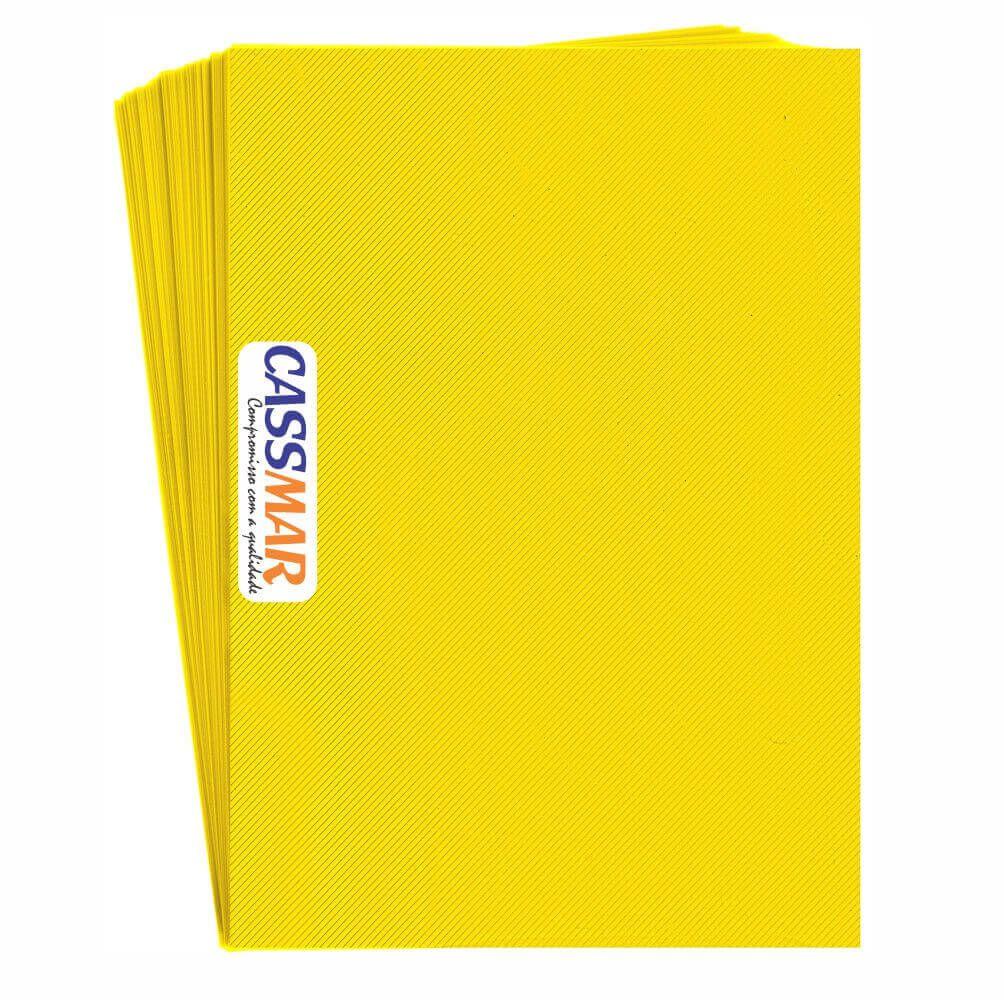 Capa para Encadernação A4 Amarelo Line Frente PP 0,30 100un