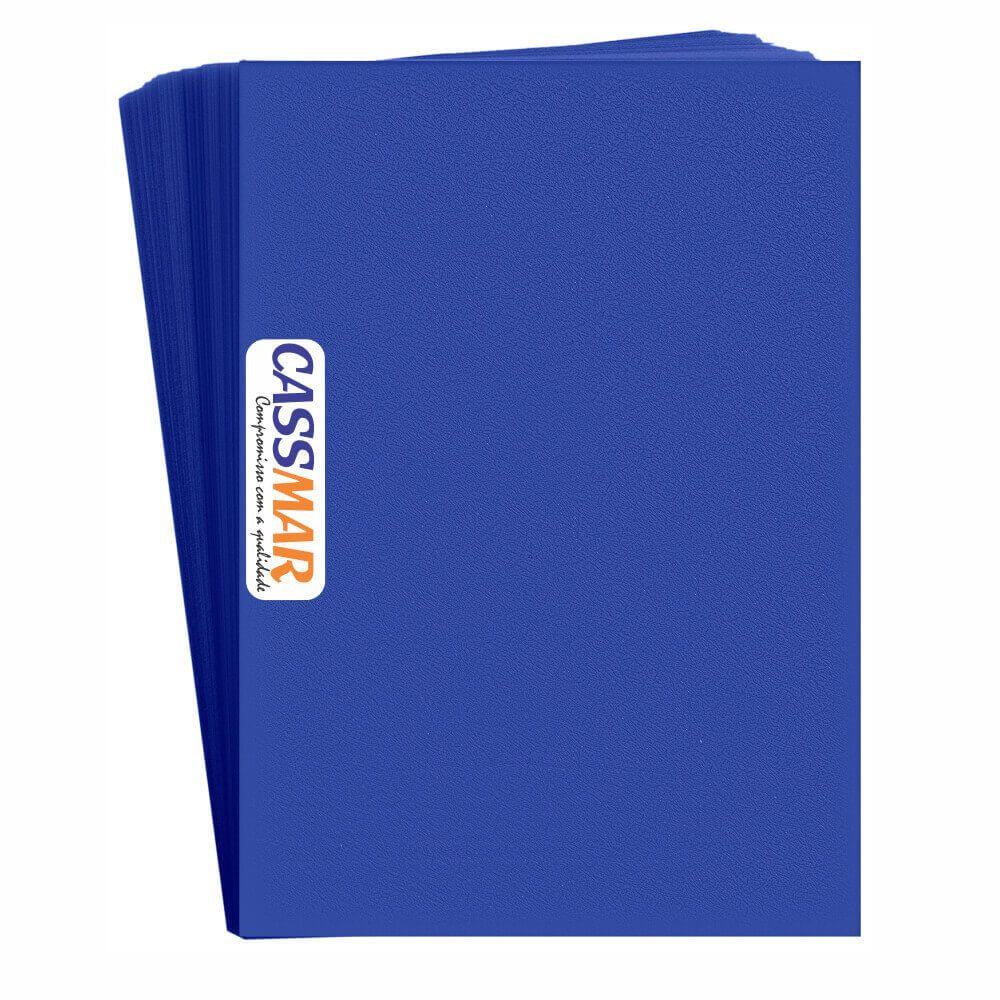 Capa Para Encadernação Azul Royal Couro Pp A4 0,30mm 100un