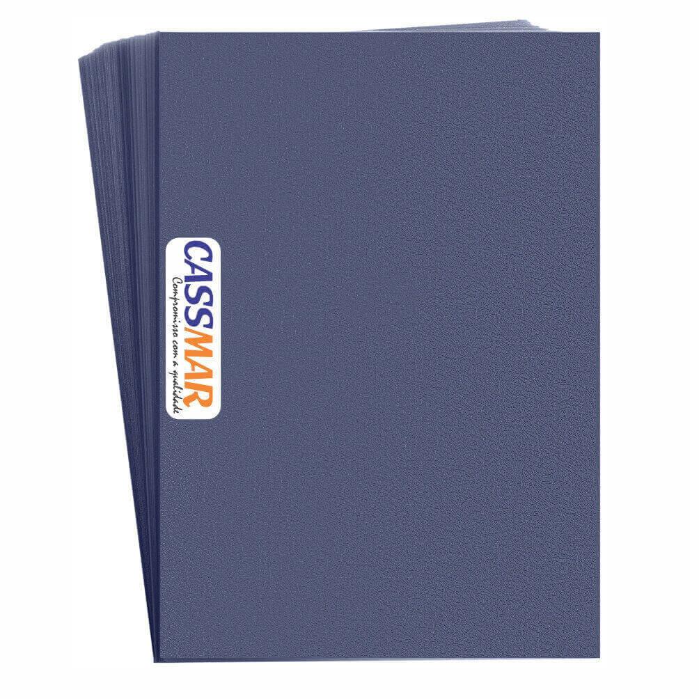 Capa Para Encadernação Azul Marinho A4 Couro | 100 Un