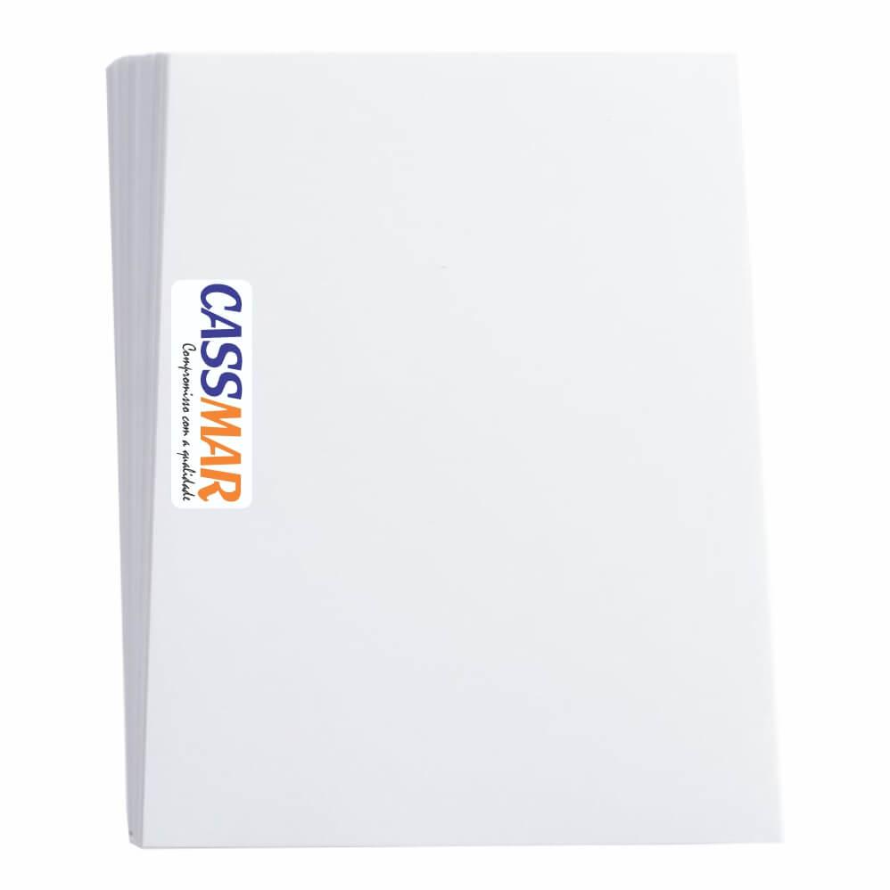 Capa Para Encadernação A4 Branco couro 50un