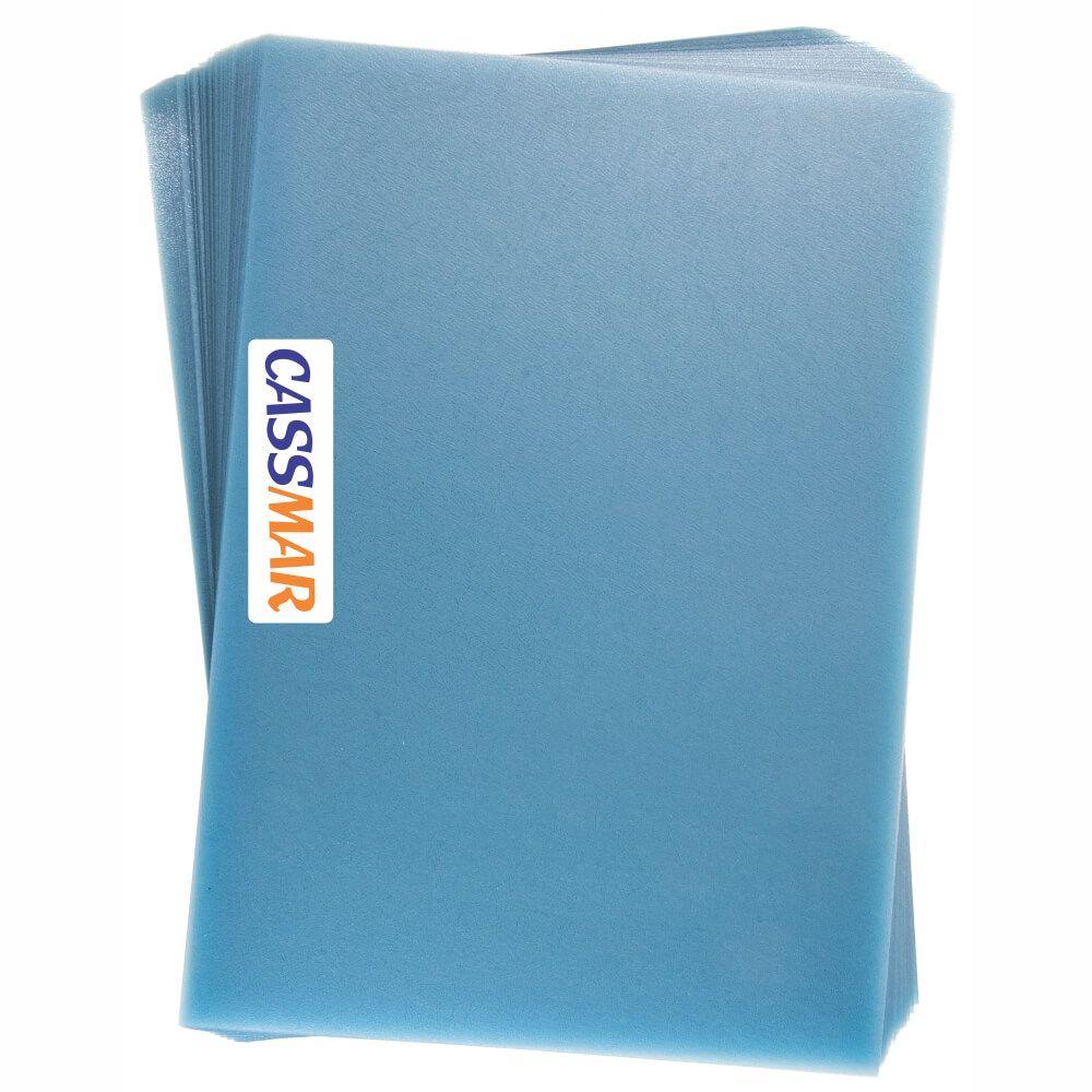 Capa para Encadernação Cristal Couro A4 Pp Transparente 100un
