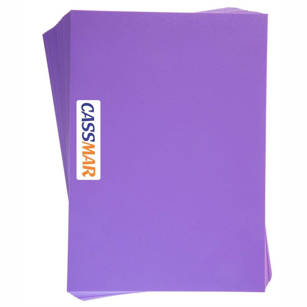Capa para Encadernação A4 lilás Couro Fundo PP 0,30 100un