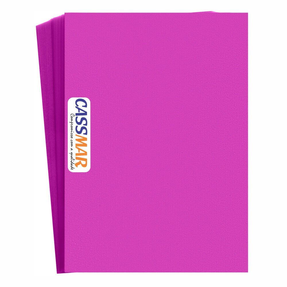 Capa Para Encadernação Rosa A4 | Pp Couro Fundo | 100 Un