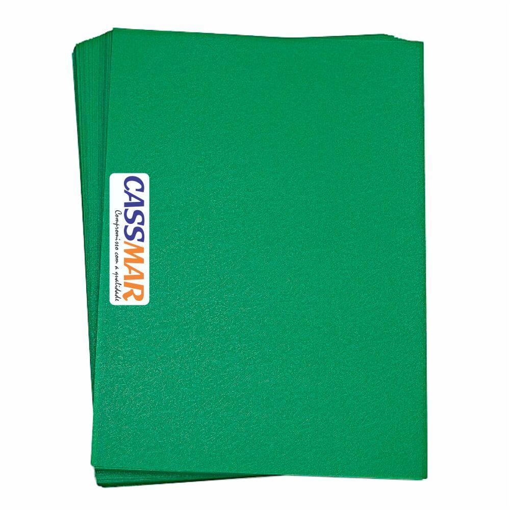 Capa para Encadernação A4 Verde Bandeira Couro PP 0,30 100un