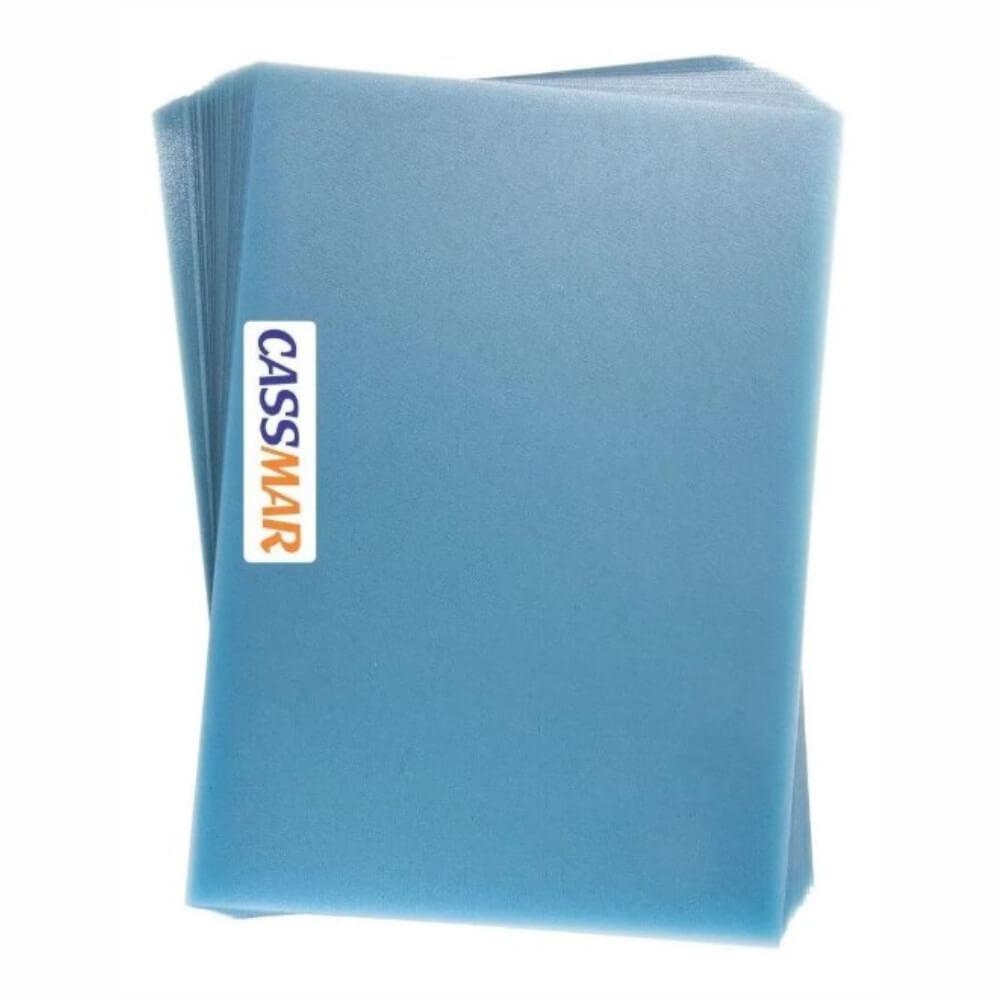Capa para Encadernação Cristal Couro A4 Pp Transparente  0,40 100un