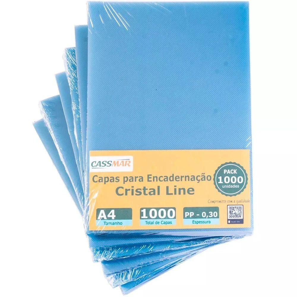 Capa Para Encadernação Cristal Line A4 PP 0,30 1000un