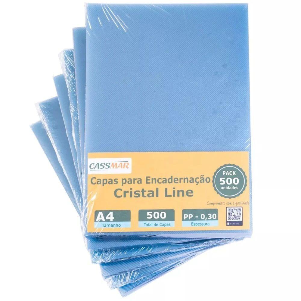 Capa Para Encadernação Cristal Line A4 PP 0,30 500un