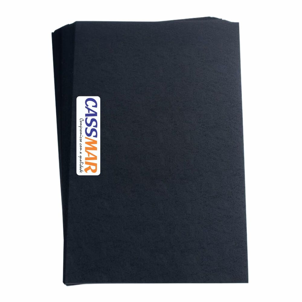 Capa para Encadernação Ofício Preta Couro PP 0,30 100un