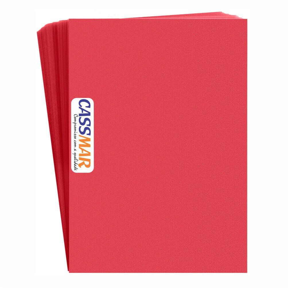 Capa Para Encadernação Pvc A4 Vermelha Fundo Camurça 100un