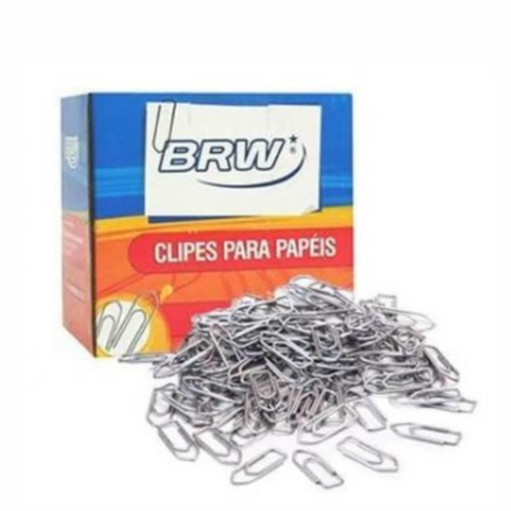 Clips de Papel Galvanizado nº 2.0 BRW caixa com 100un