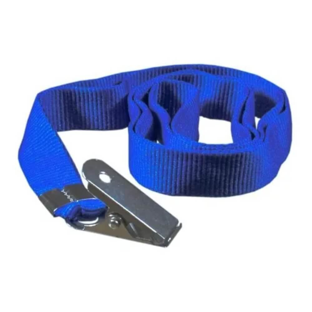 Cordão Para Crachá Com Jacaré Azul Royal 12mm Cassmar 10un