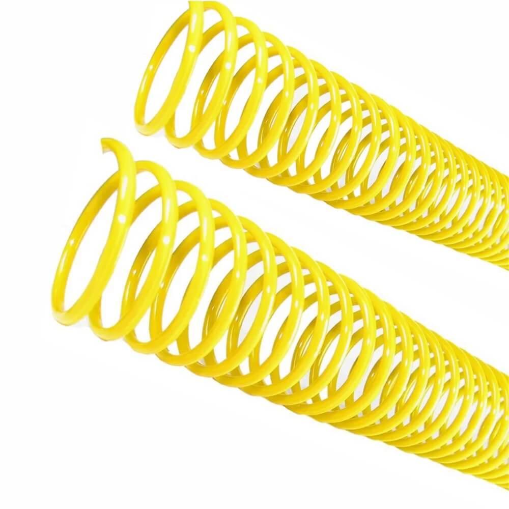 Espiral para Encadernação Amarelo 07 mm para 25 folhas 100un