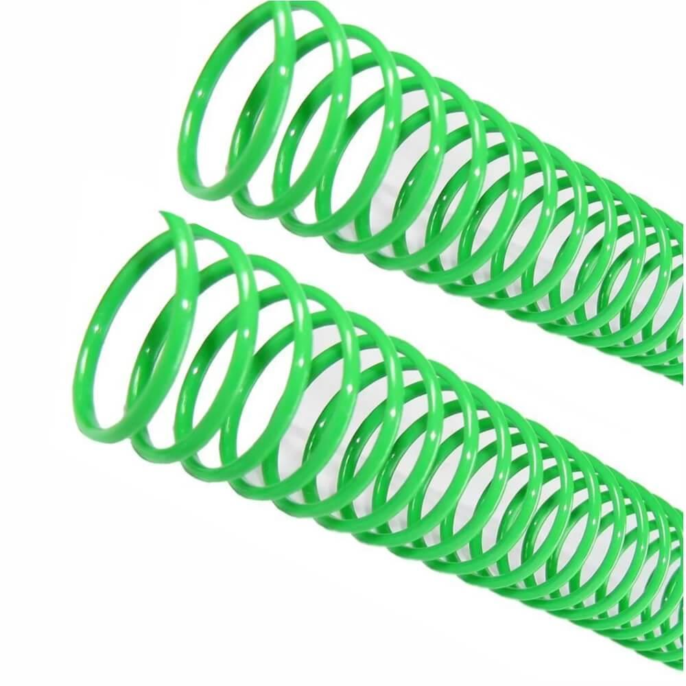 Espiral para Encadernação Verde 07 mm para 25 folhas 100un