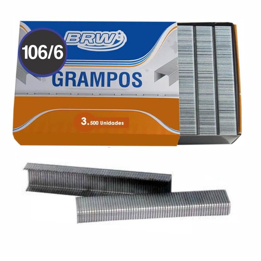 Grampo Galvanizado 106/6 para grampeador BRW 3500un