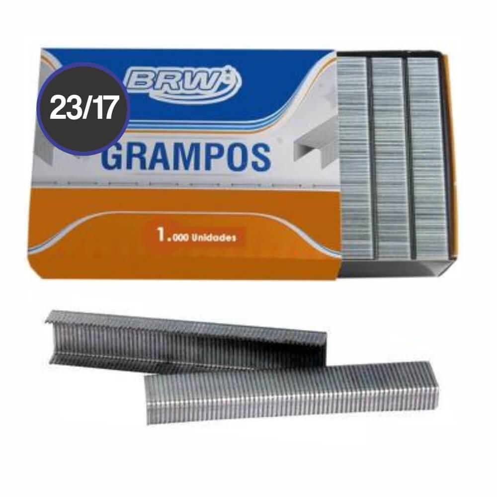 Grampo Galvanizado 23/17 grampear de 130 a 160fls BRW 1000un
