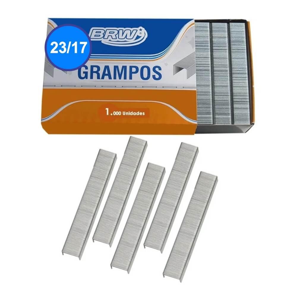 Grampo 23/17 grampear de 130 a 160fls Galvanizado BRW 1000un