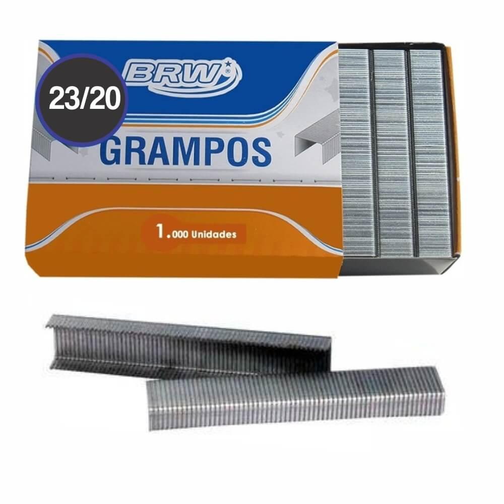Grampo Galvanizado 23/20 grampear de 140 a 170fls BRW 1000un