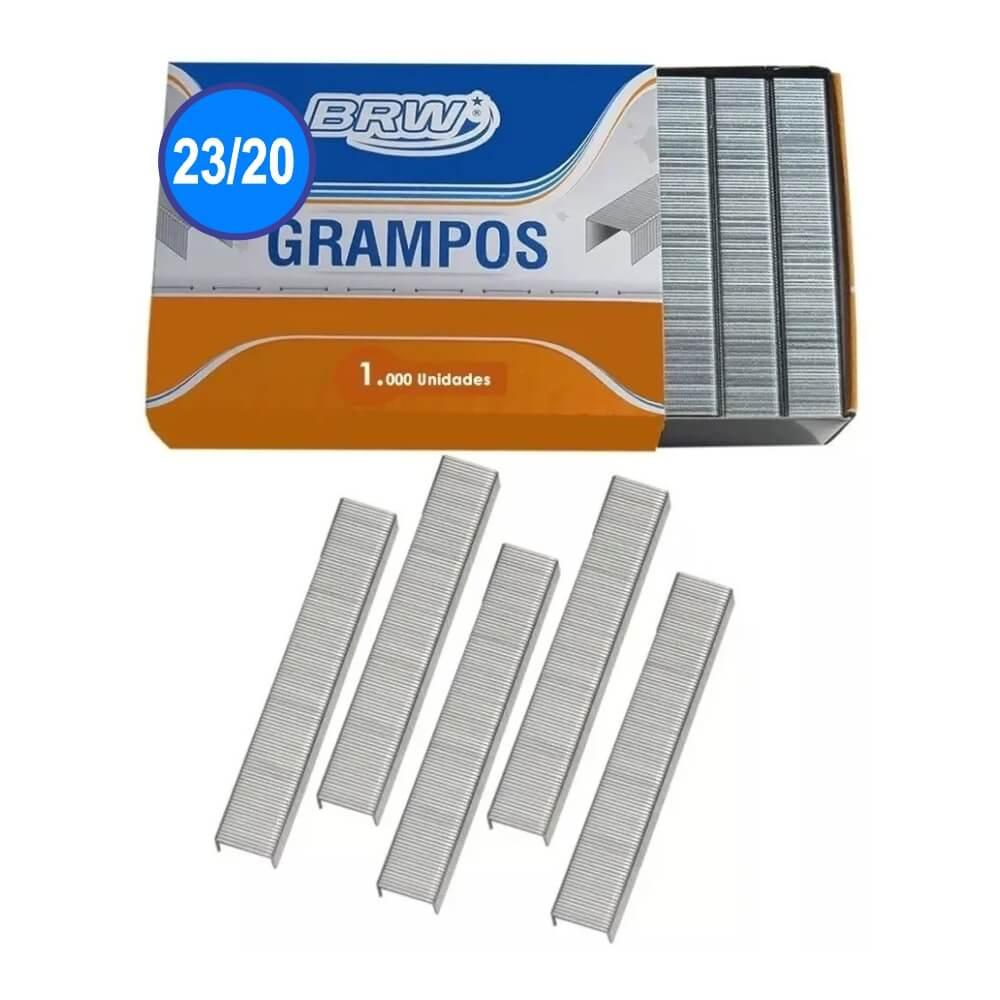 Grampo 23/20 Grampear De 140 A 170fls Galvanizado Brw 1000un