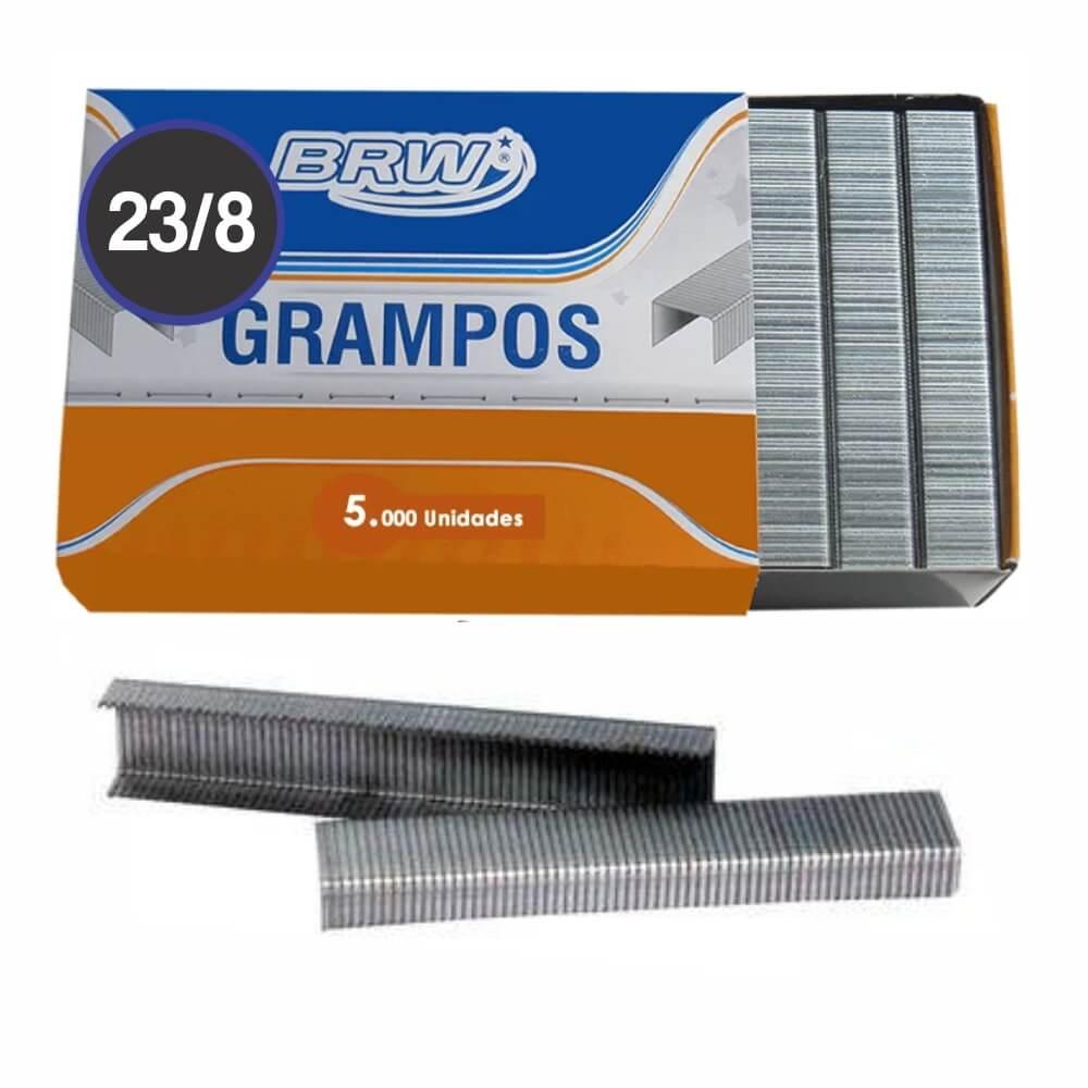 Grampo Galvanizado 23/8 para grampear 20 a 50fls BRW 5000un