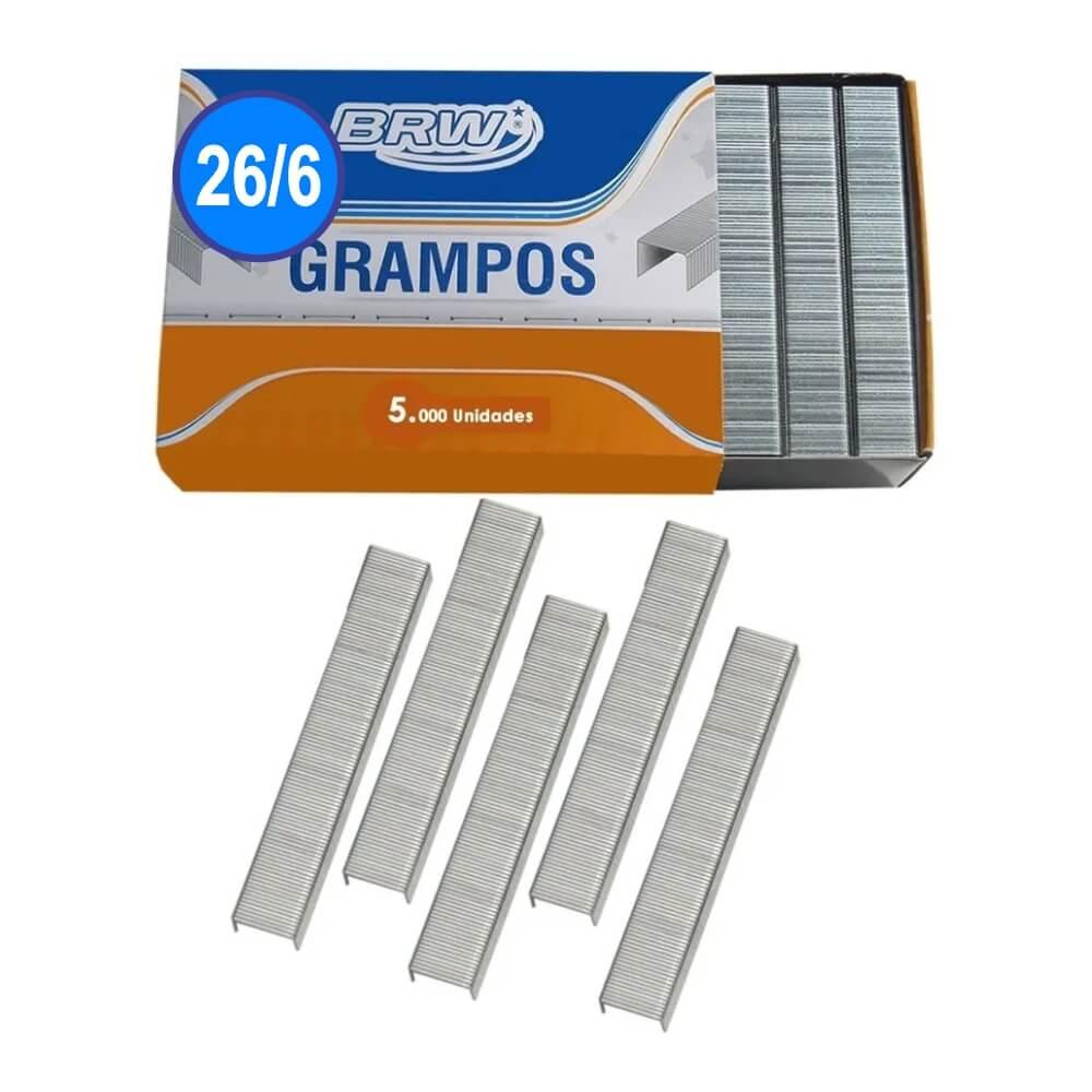 Grampo 26/6 para grampeador 20fls Galvanizado BRW 5000un