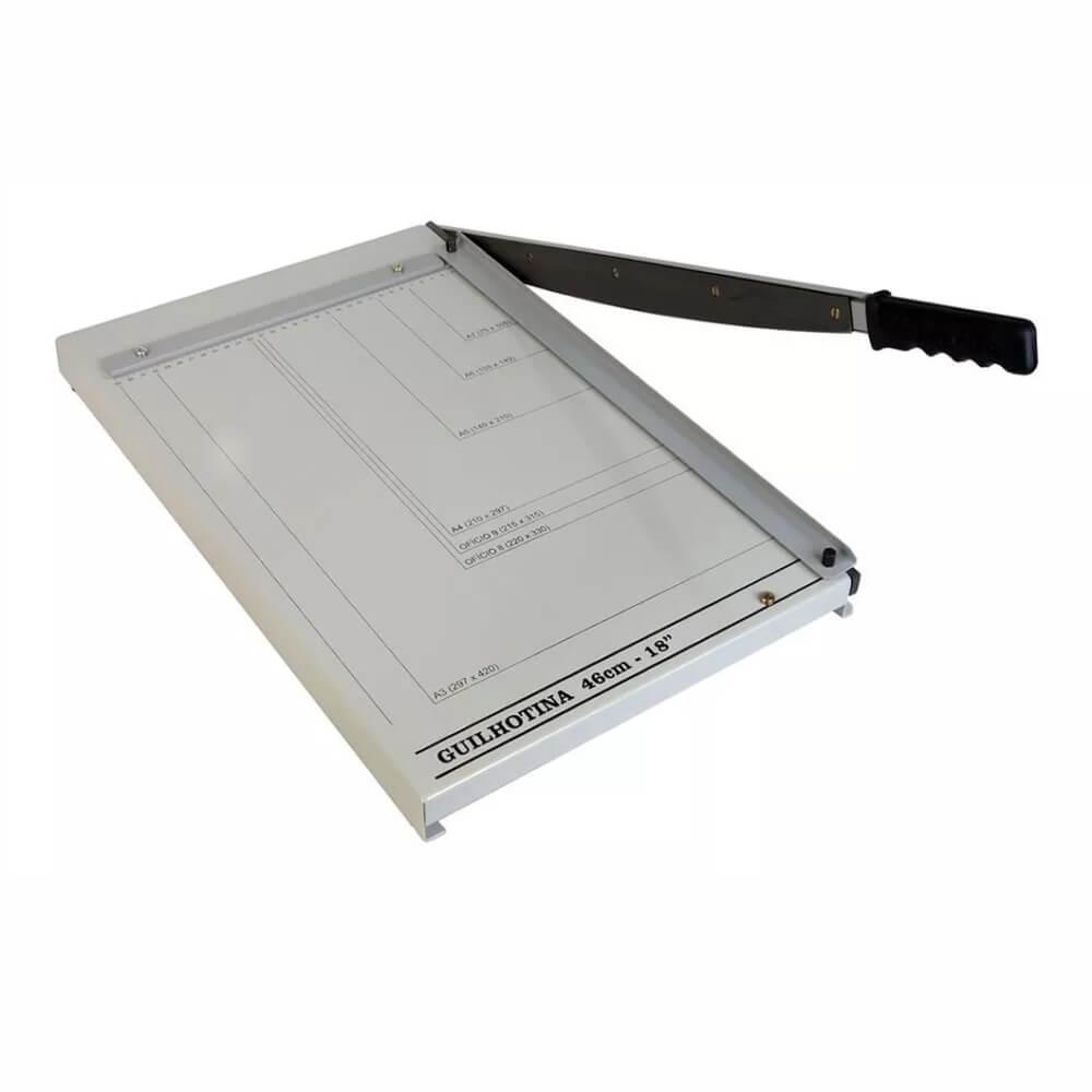 Guilhotina de papel manual A3 46cm em aço para 20 Folhas