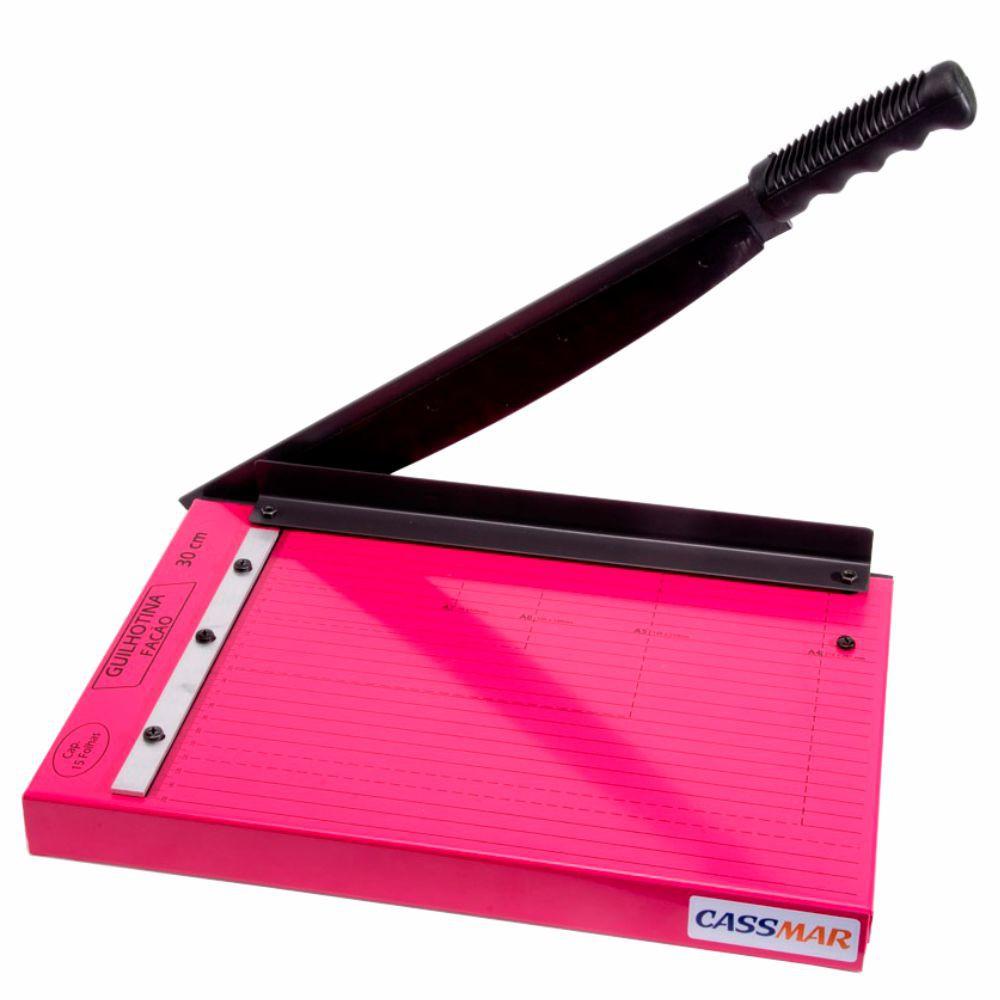 Guilhotina De Papel Manual A4 30 Cm 12 Folhas Pink Cassmar