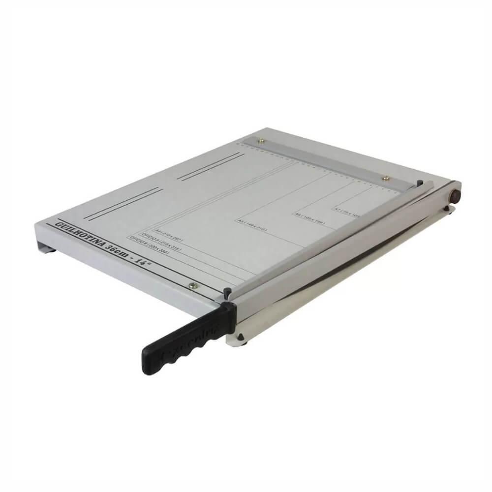 Guilhotina Manual para papel Ofício 36cm em aço para 20 fls