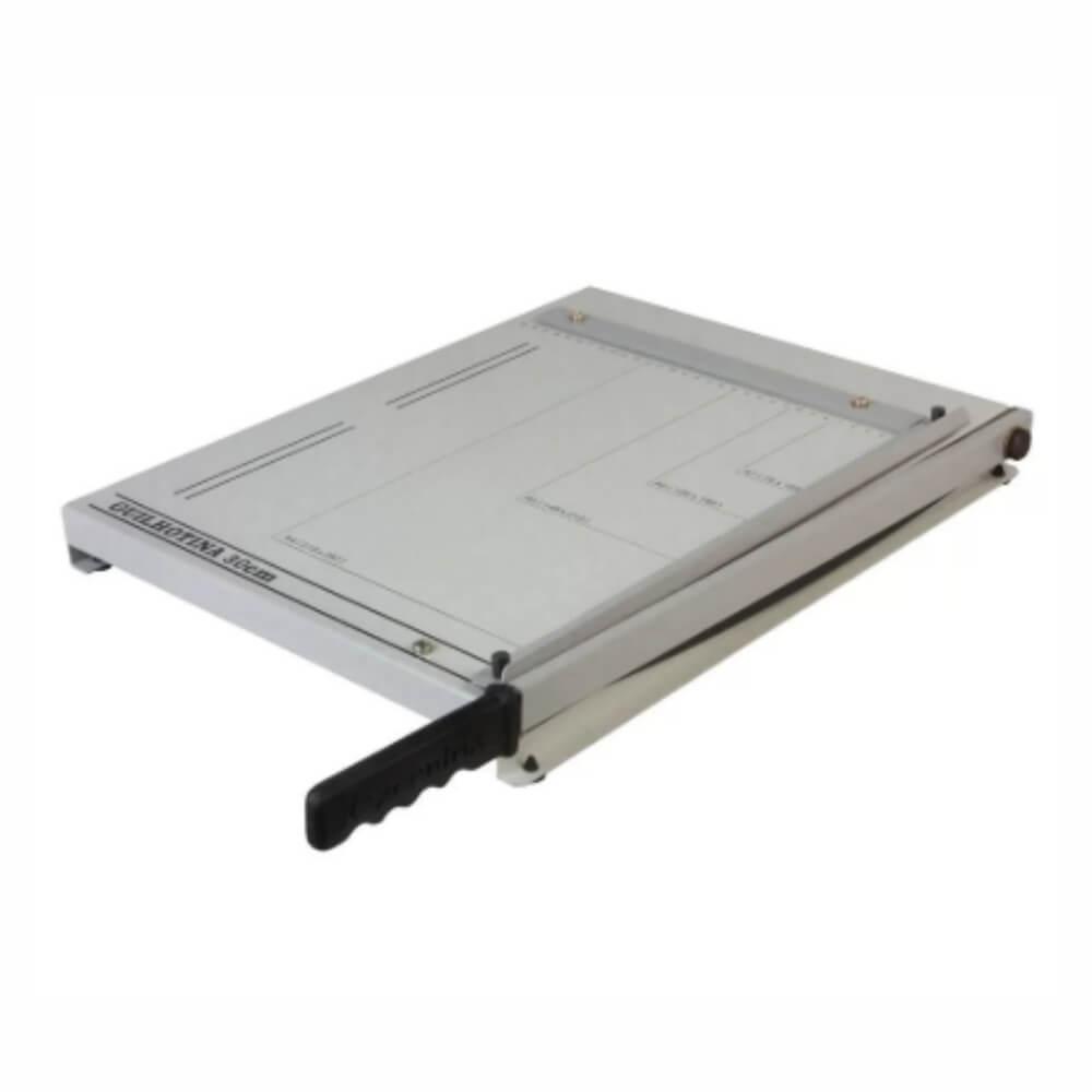 Guilhotina para papel manual A4 30cm em aço para 20 Folhas