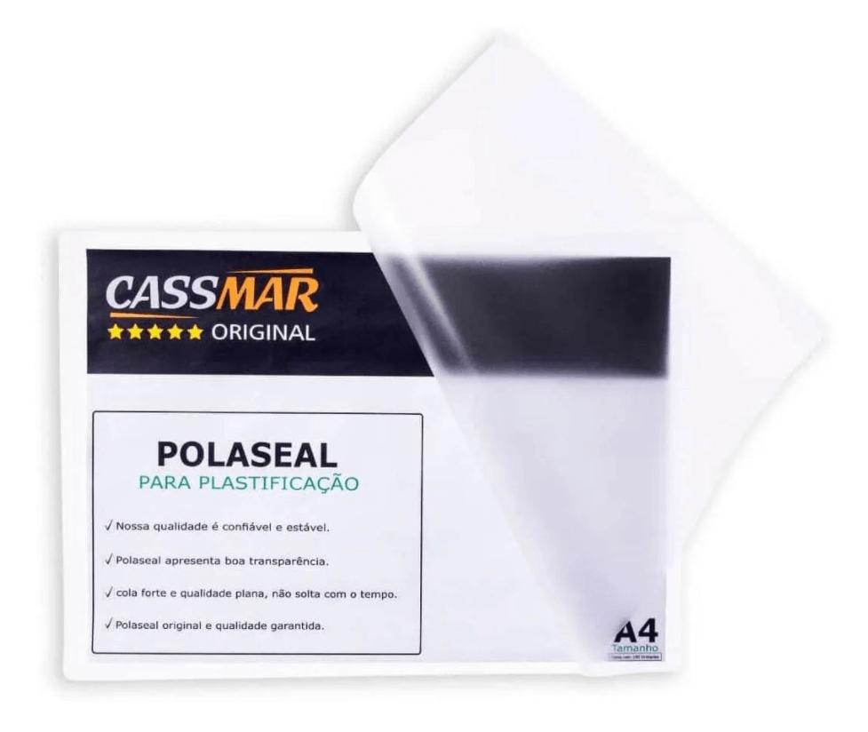 Kit 300un Polaseal Crachá Cpf Rg 0,07mm Para Plastificação