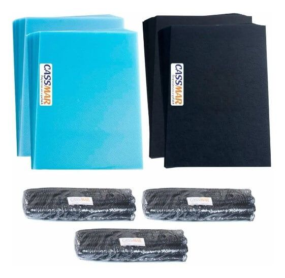 Kit 400 Capas E 200 Espirais 09mm - 100 Espiral 17mm Pretos
