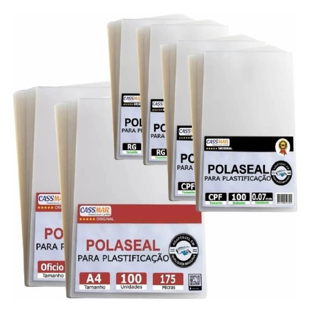 Kit 600un Polaseal (cpf - Rg - A4 - Oficio) 0,07 175mic