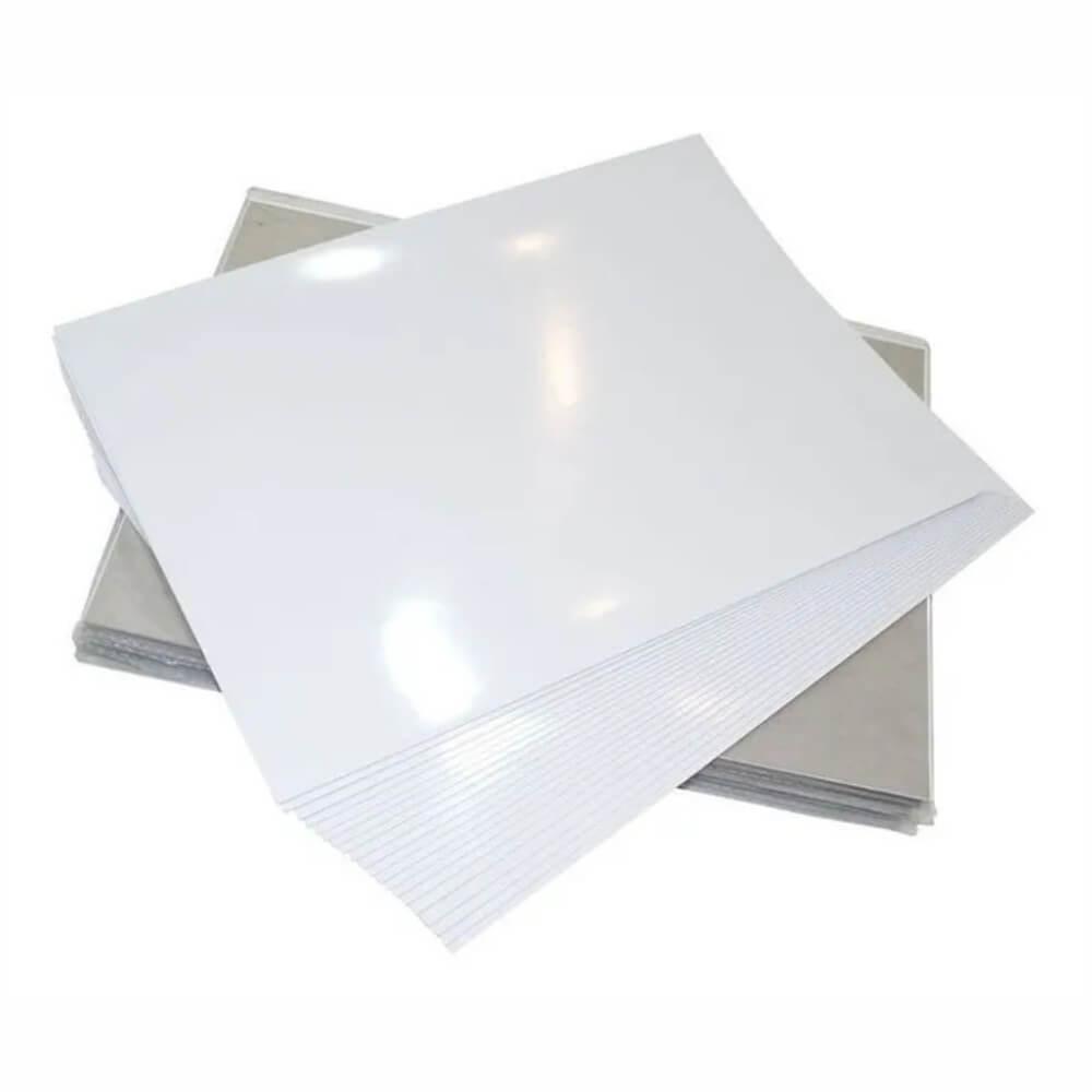 Papel Fotográfico Adesivo A4 Brilhante 130g Cassmar 100 Folhas