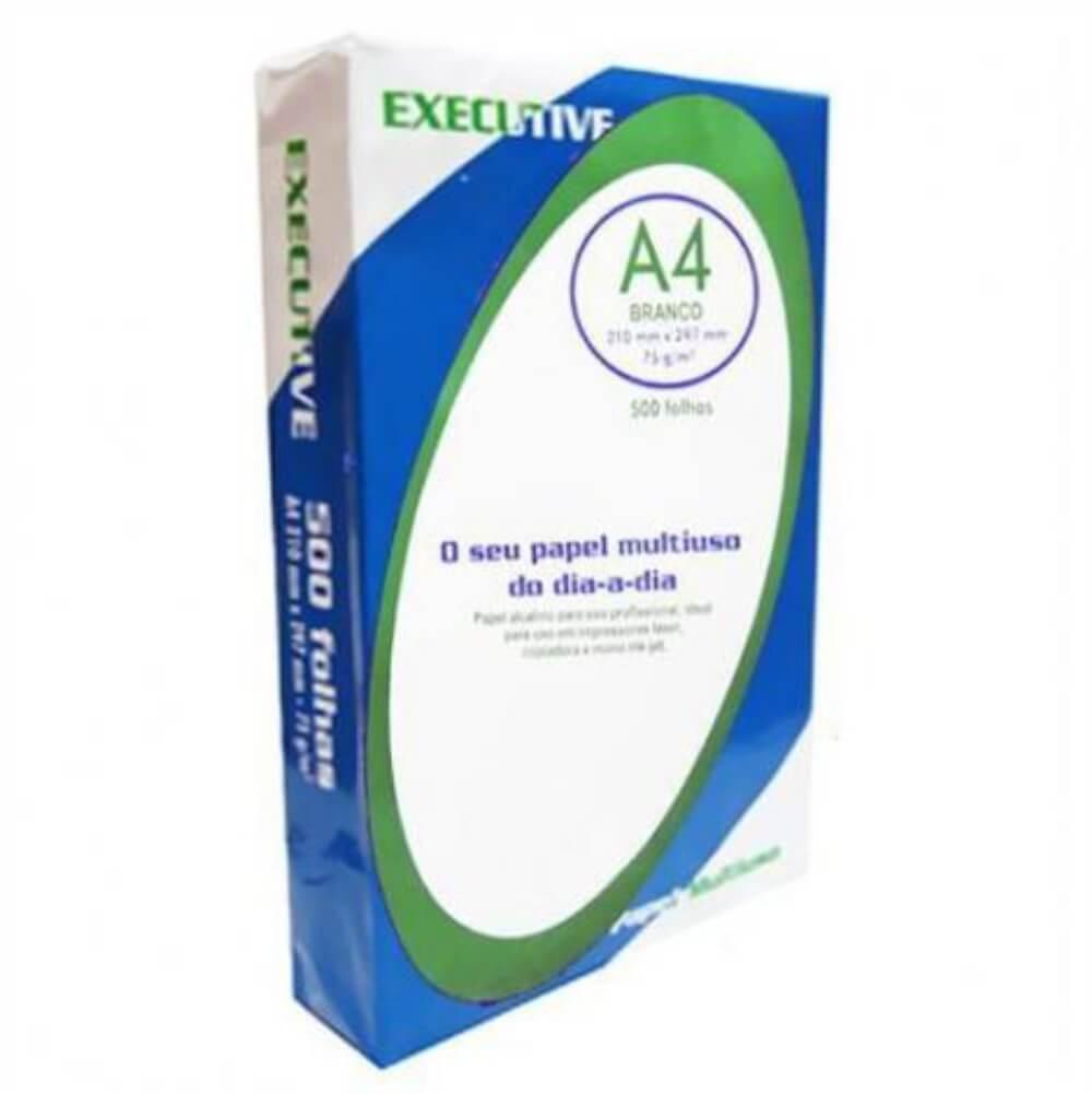 Papel Sulfite A4 75g/m² impressão Executive Branco 500fls