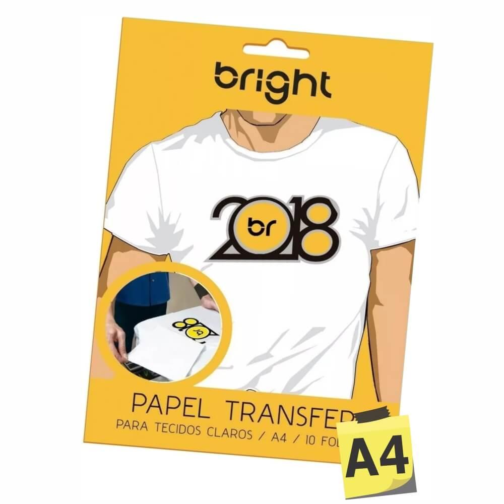 Papel Transfer A4 Para Tecidos Claros Bright - 10 Folhas