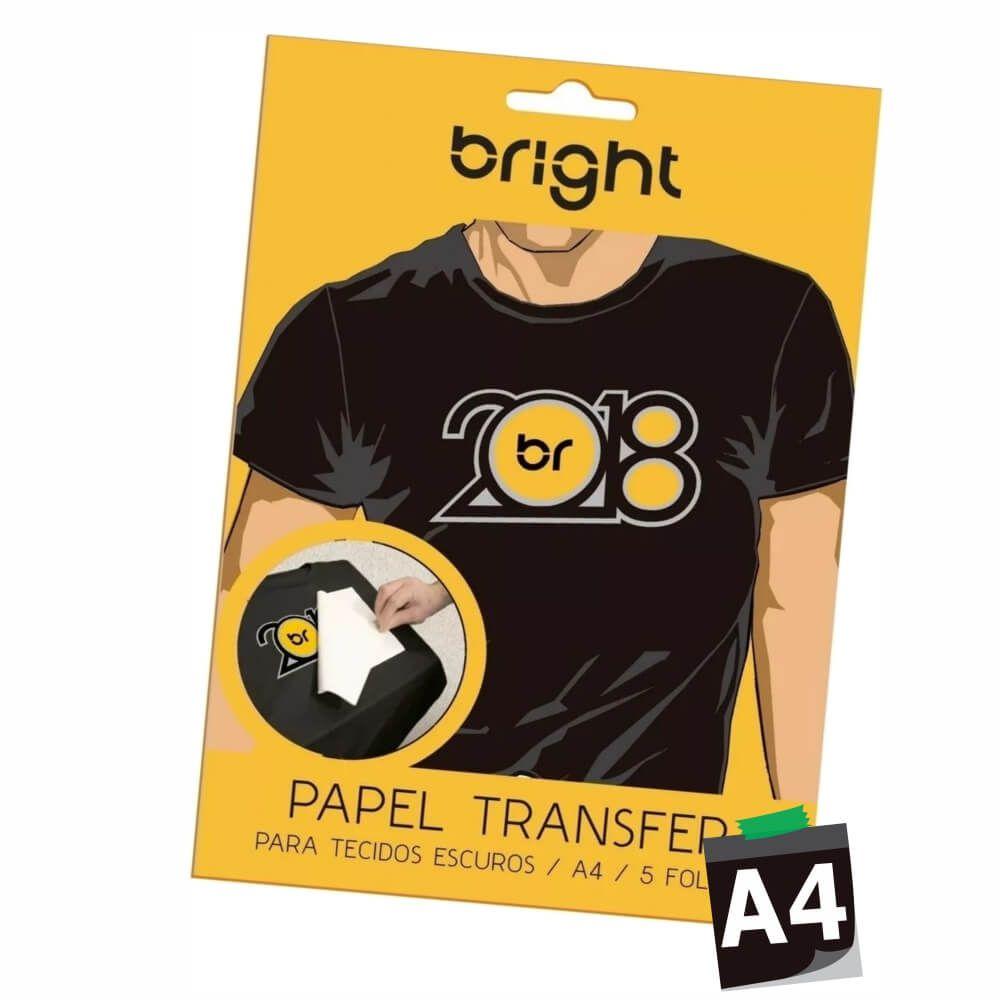 Papel Transfer A4 Para Tecidos Escuros Bright - 05 Folhas
